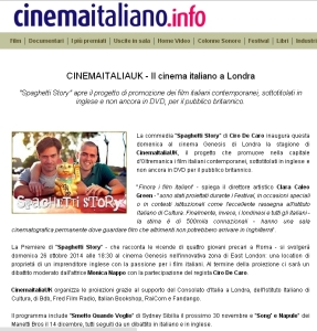 CinemaItaliaUK CinemaItaliano.info