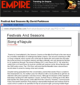 CinemaItaliaUK Song'eNapule EmpireOnline