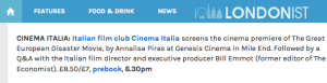 CinemaItaliaUK TGEDMovie Londonist